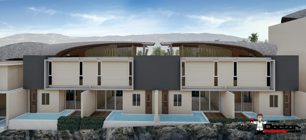 New 2 Bedroom Townhouses in Bang Kao, Koh Samui – For Sale