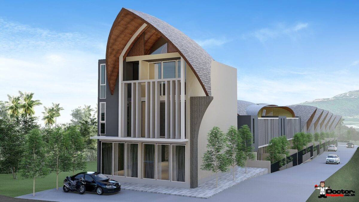New 3 Bedroom Townhouses in Bang Kao, Koh Samui - For Sale