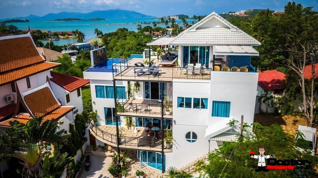 6 Bedroom Villa with Sea View - Bang Rak - Koh Samui - for sale