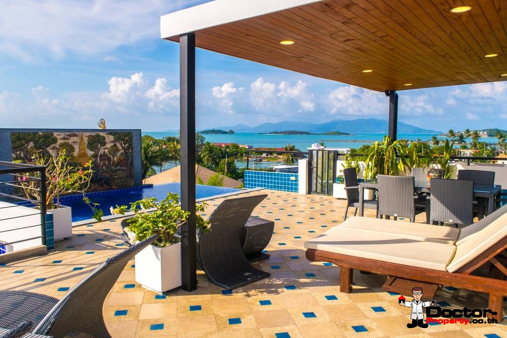 6 Bedroom Villa with Sea View - Bang Rak - Koh Samui - for sale