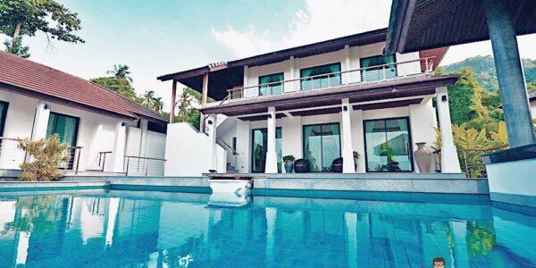 3 Bedroom Pool Villa with Sea view - Mae Nam, Koh Samui - For Sale