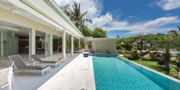 Stunning Beachfront 5 Bedroom Pool Villa - Plai Laem, Koh Samui - For Sale
