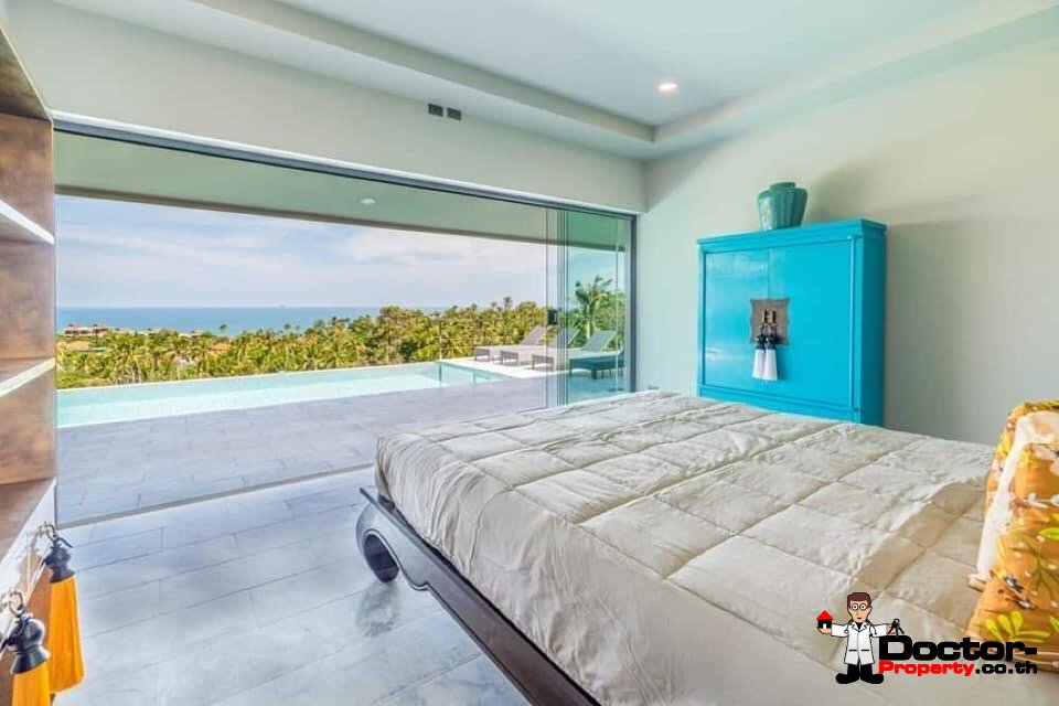 New 3 Bedroom Villa with Sea View - Chaweng - Koh Samui - for sale