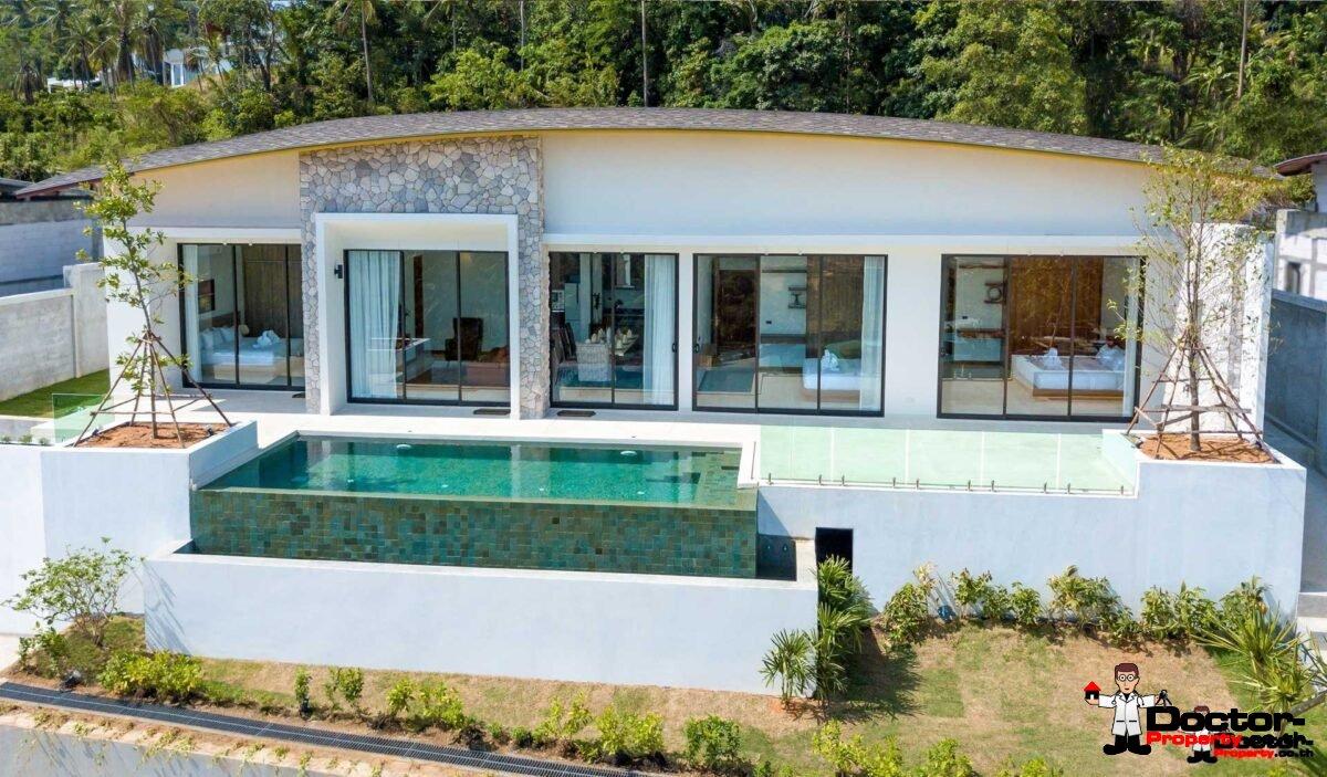 New 3 Bedroom Villa with Sea View - Mae Nam - Koh Samui for sale