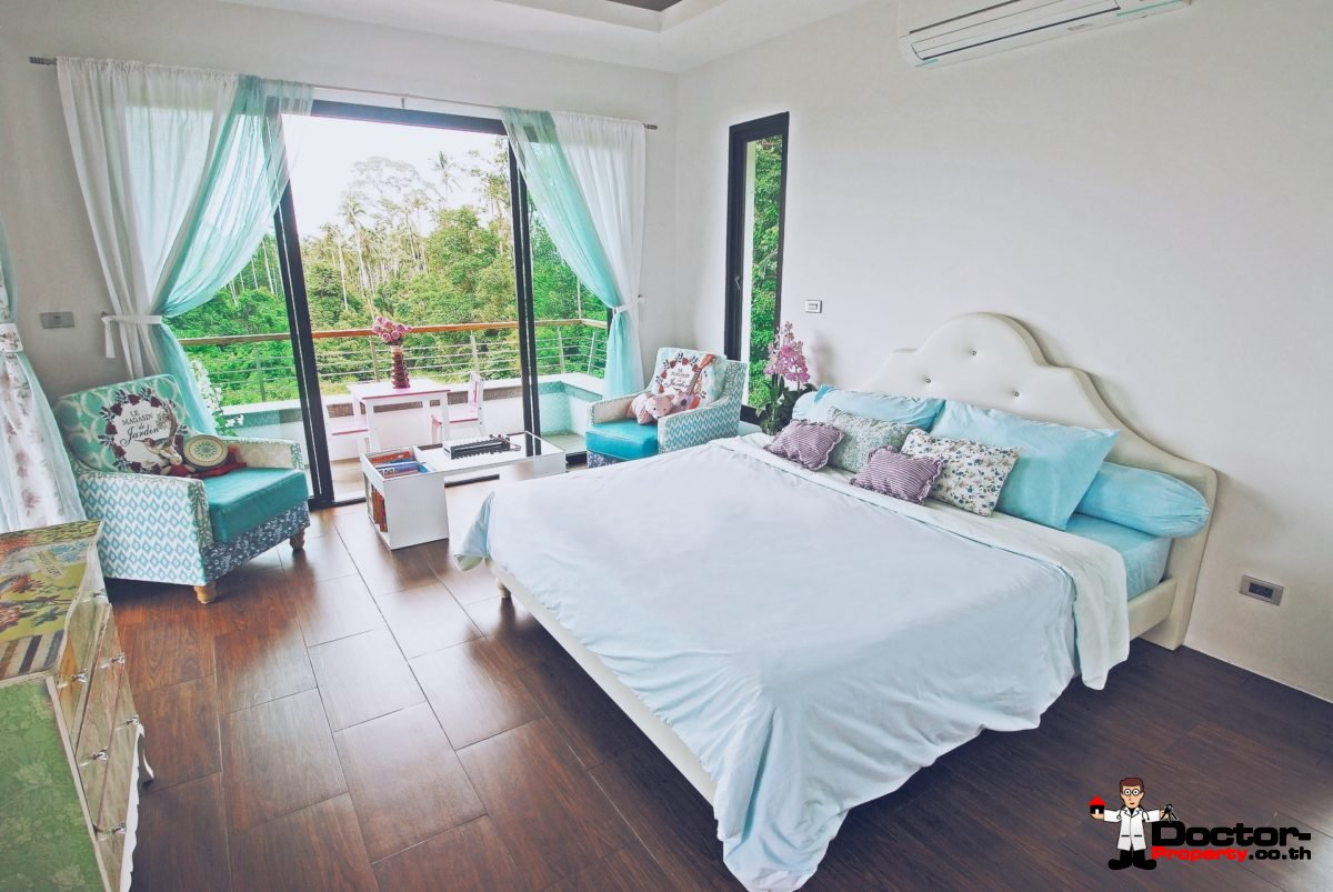 3 Bedroom Pool Villa with Sea view - Mae Nam, Koh Samui - For Sale