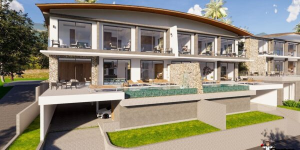 New 4 Bedroom Twin Villa with Sea View – Mae Nam – Koh Samui