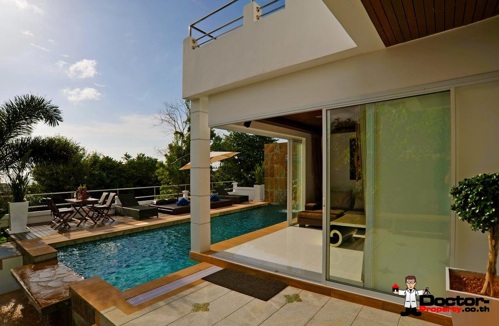 Traditional 6 Bedroom Villa with Sea View - Bang Rak - Koh Samui