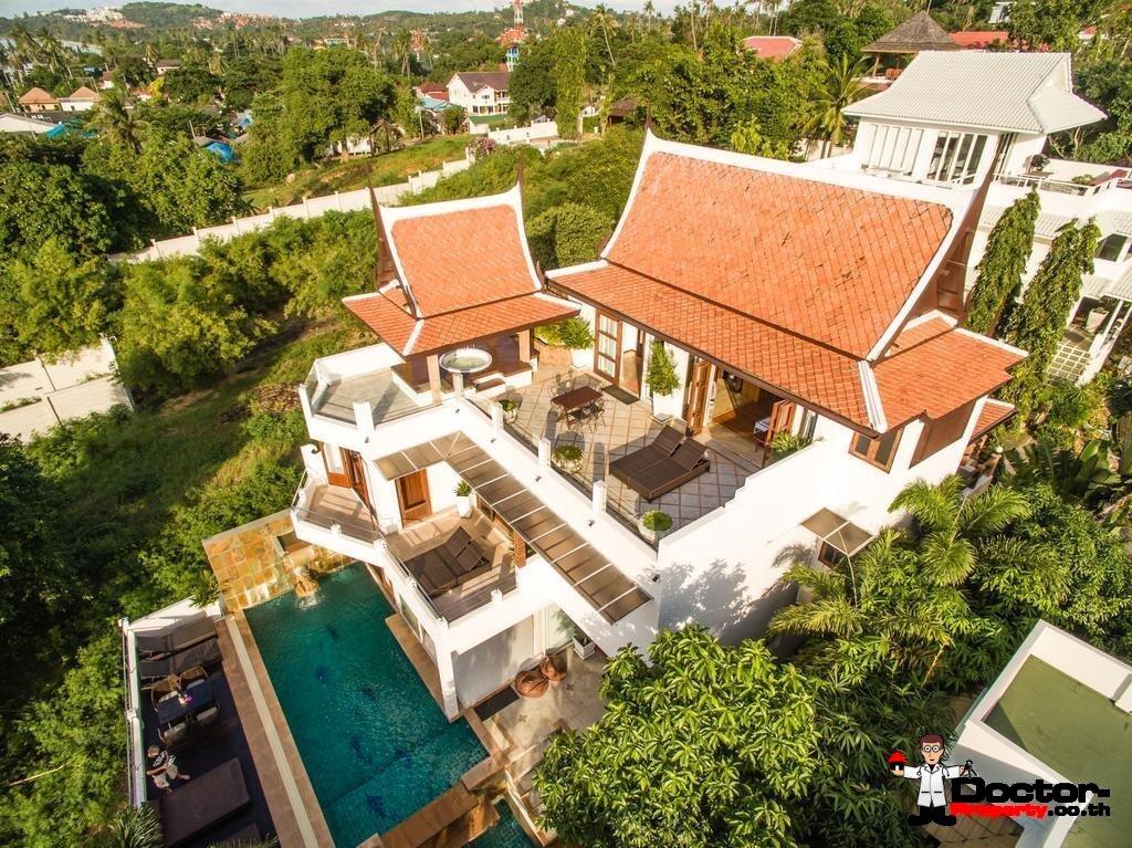 Traditional 6 Bedroom Villa with Sea View - Bang Rak - Koh Samui