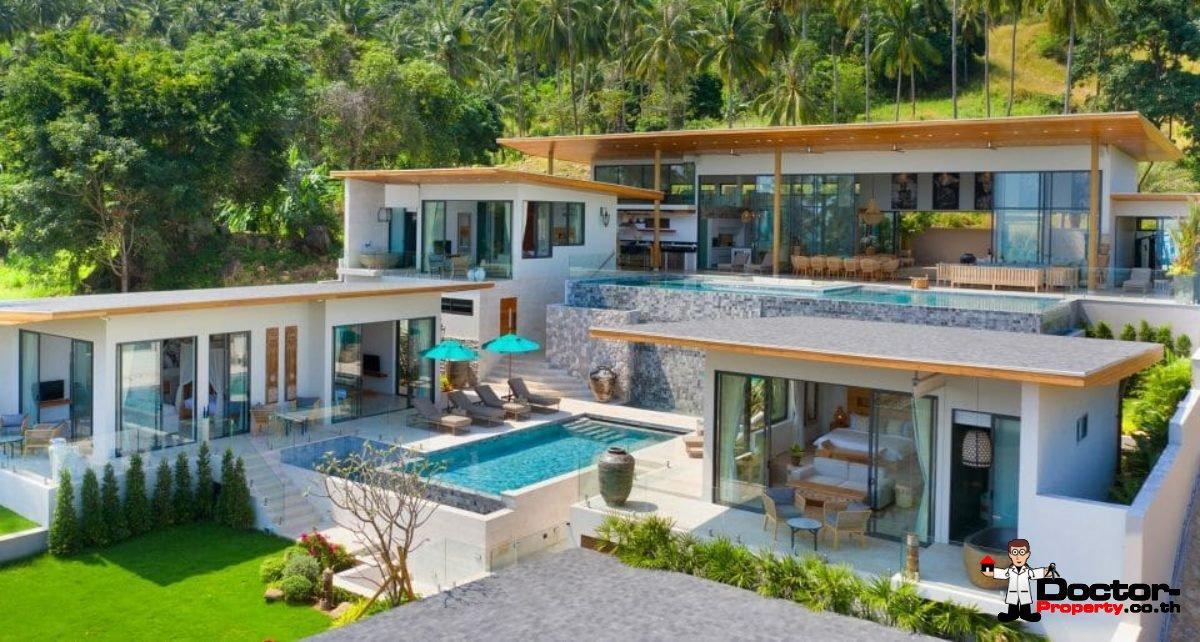 Luxury 6 Bedroom Sea View Villa - Chaweng - Koh Samui - for sale
