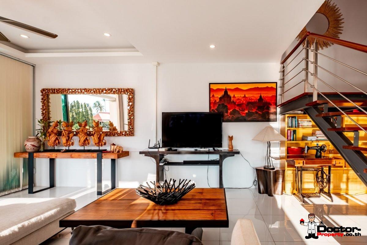 3 Bedroom Twin Villa, Sea View, Pool - Bang Rak, Koh Samui - For Sale