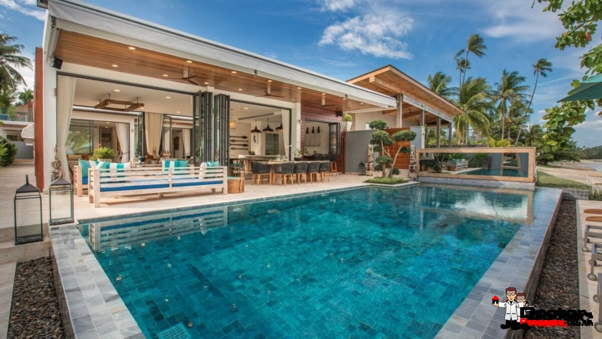 Amazing Beachfront Villa - 6 Bedrooms - Laem Por - Koh Samui - for sale