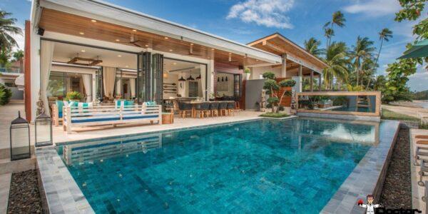 Amazing Beachfront Villa - 6 Bedrooms - Laem Por - Koh Samui - for sale