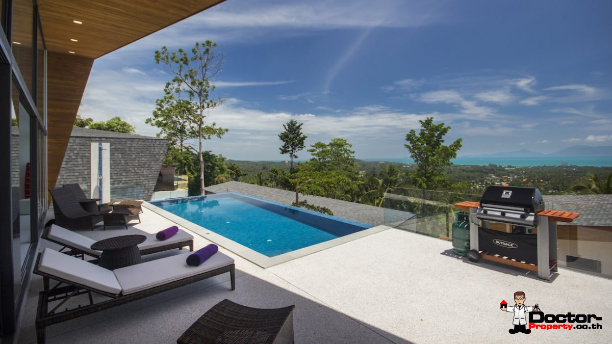 4 Bedroom Sea View Pool Villa - Mae Nam, Koh Samui - For Sale