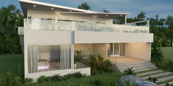 3 Bedroom Pool Villa with Sea View - Chaweng, Koh Samui - For Sale