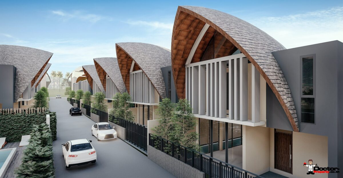 New 3 Bedroom Town Villa with Pool - Bang Kao, Koh Samui - For Sale