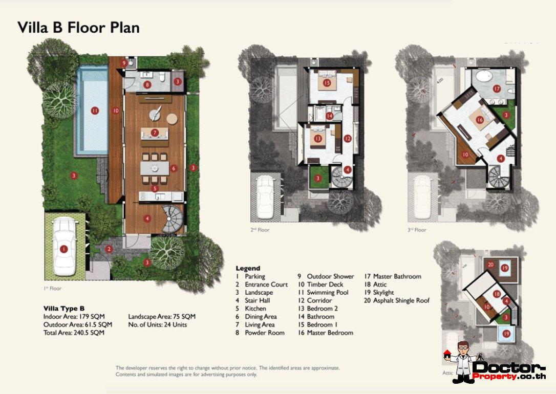 New 4 Bedroom Villa - Bang Rak - Koh Samui - for sale