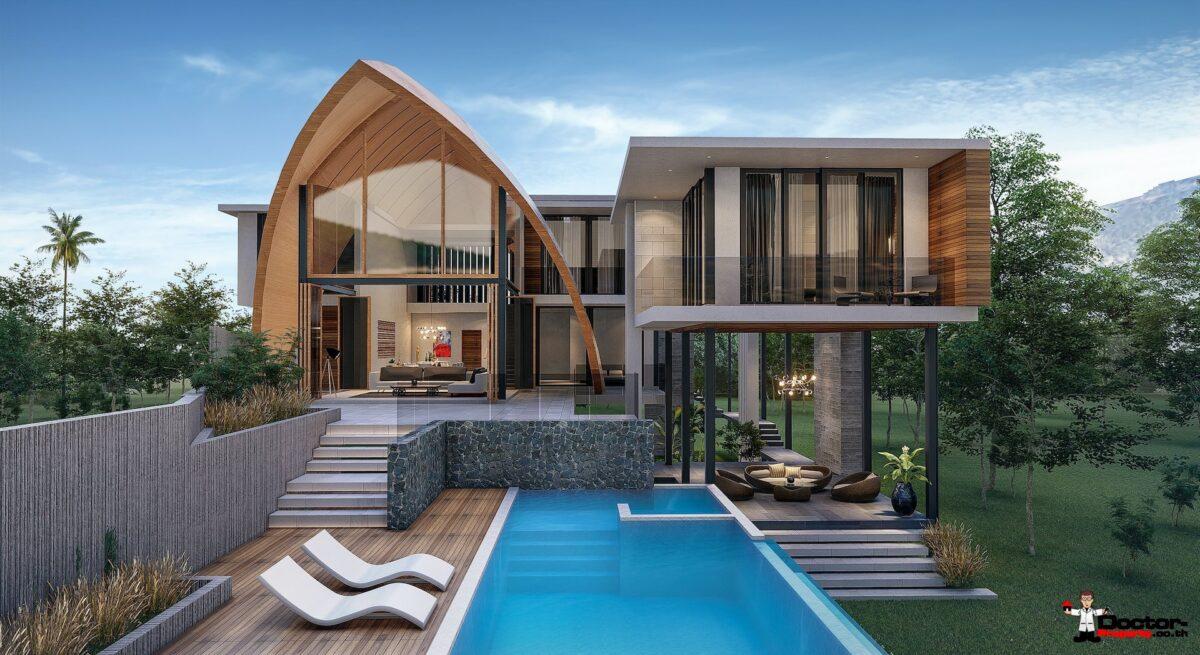 New 4 Bedroom Villa with Pool, Sea View - Laem Sett, Koh Samui - For Sale
