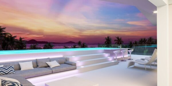4 Bedroom Pool Villa with Sea View - Chaweng, Koh Samui - For Sale