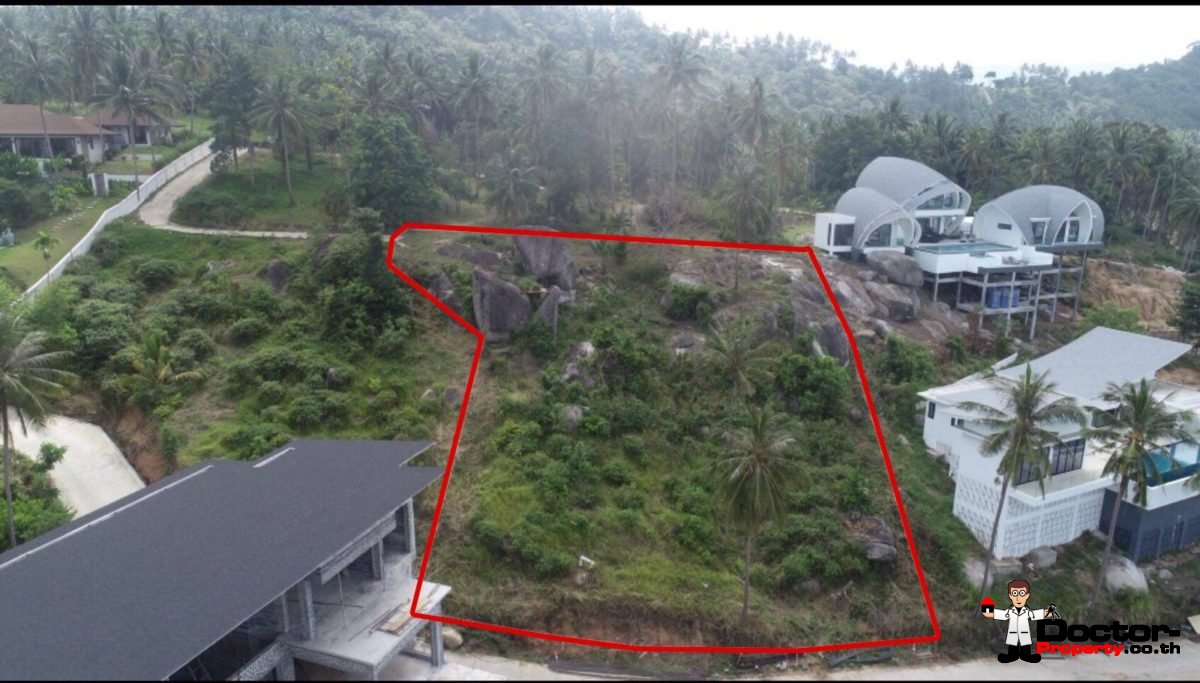 1 Rai Fantastic Sea View Land - Chaweng Noi - Koh Samui - for sale