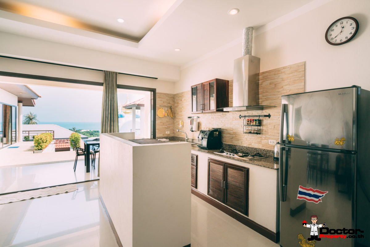 3 Bedroom Villa + 1 Apartment (1 Bed) - Sea View - Lamai - Koh Samui