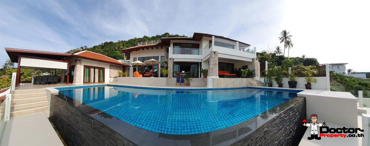 4 Bedroom Pool Villa with Seaview - Bang Por, Koh Samui - For Sale
