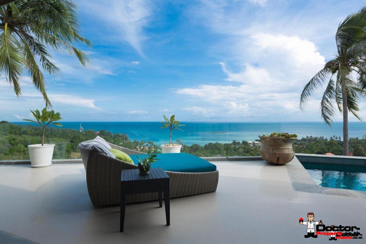 4 Bedroom Pool Villa with Sea View - Hua Thanon, Koh Samui - For Sale