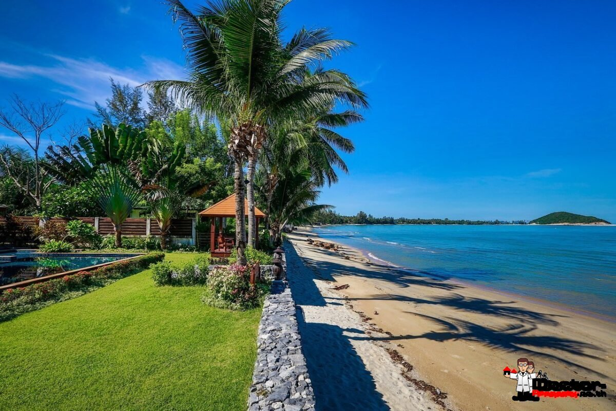 Stunning 5 Bedroom Villa - Beachfront - Lipa Noi - Koh Samui - for sale