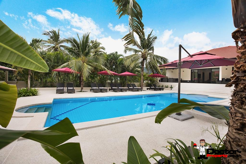 2 fantastic Pool Villas - 8 Bedrooms - Chaweng - Koh Samui - for sale