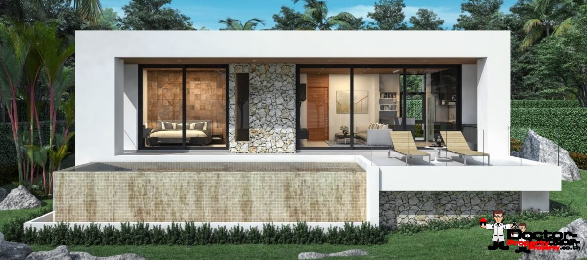 New 1 Bedroom Sea View Villa - Chaweng Noi - Koh Samui - for sale