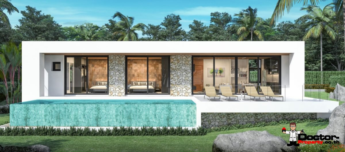 New 2 Bedroom Sea View Villa – Chaweng Noi – Koh Samui – for sale
