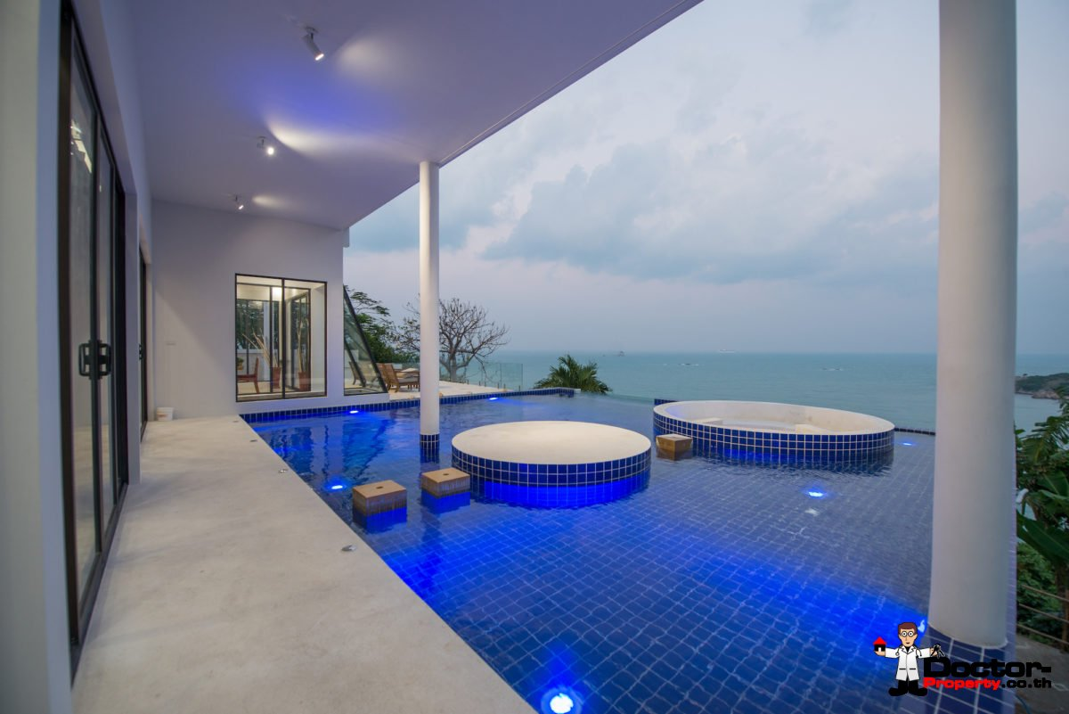 Exclusive 5 Bedroom Pool Villa with Seaview - Plai Laem, Koh Samui - For Sale