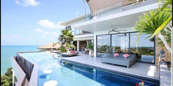 8 Bedroom luxury Sea View Villa - Plai Laem - Koh Samui - for sale