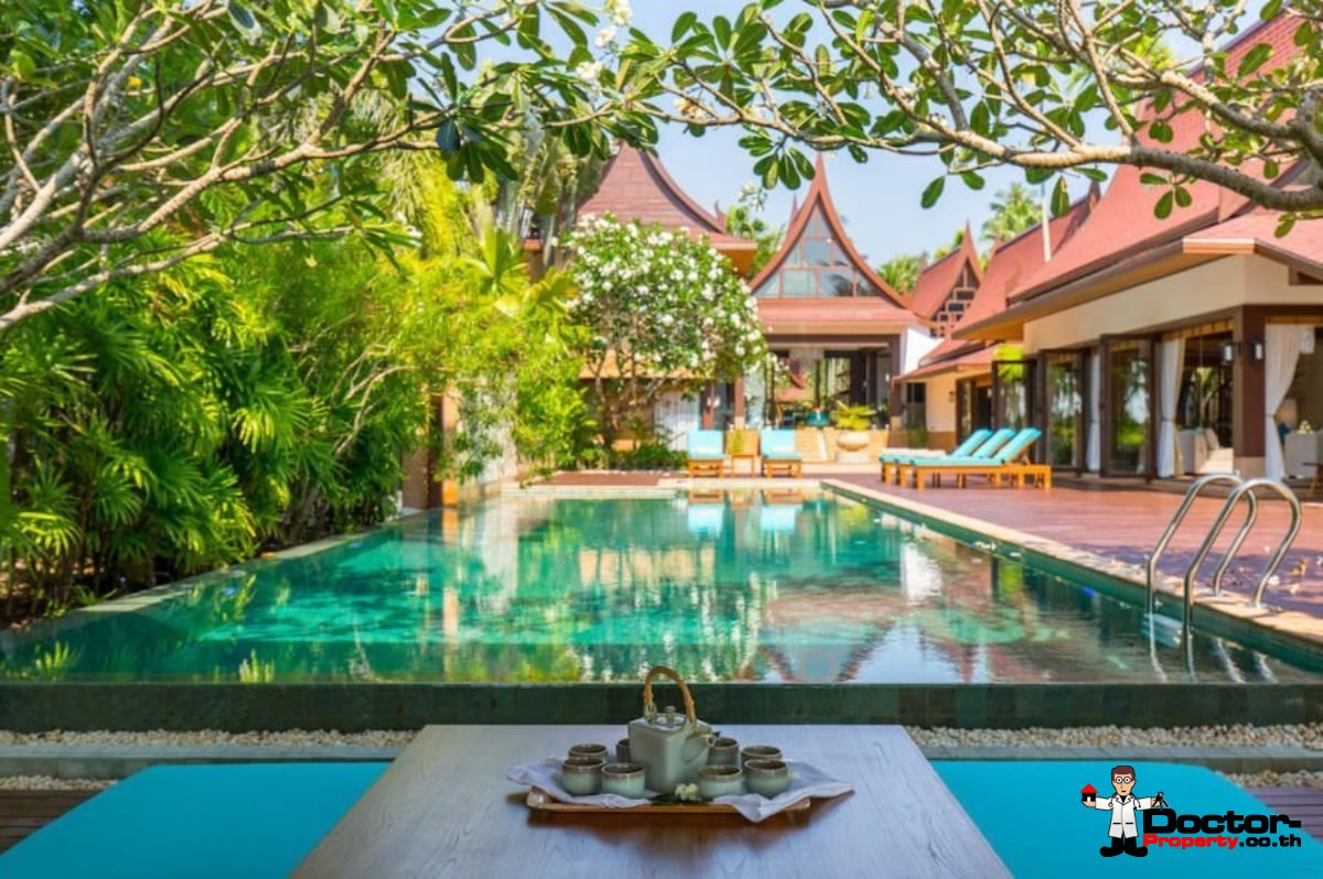 Stunning 5 Bedroom Beachfront Villa - Lipa Noi - Koh Samui - for sale