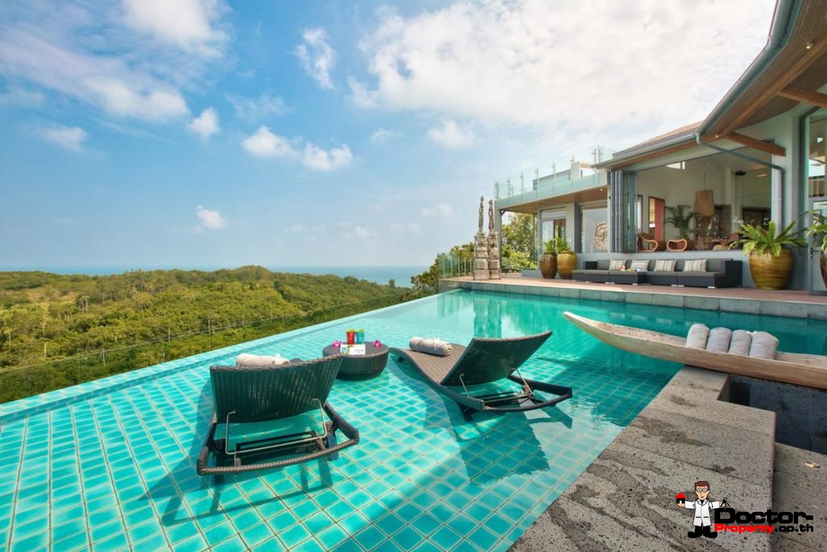 Luxury 8 Bedroom Sea View Villa - Choeng Mon - for sale