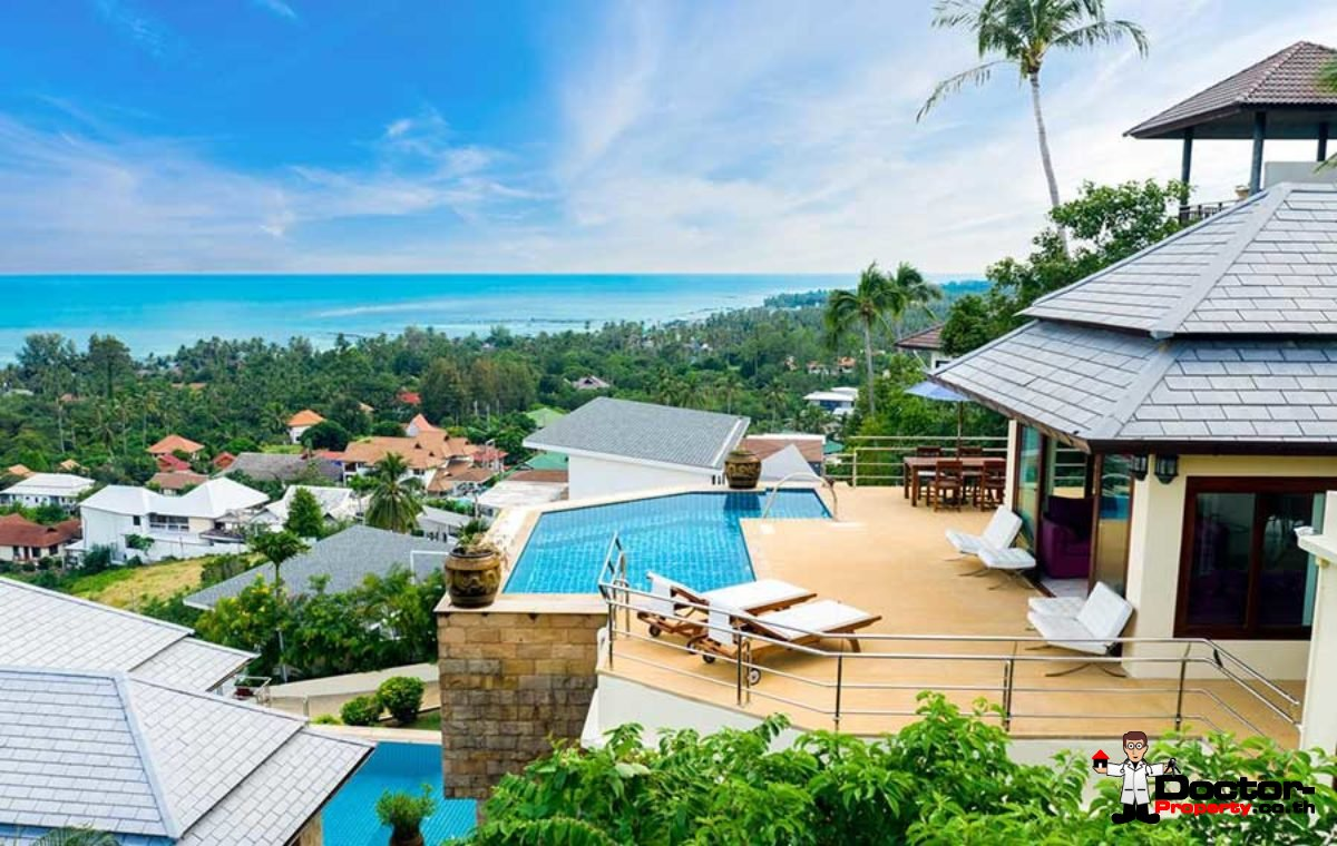 4 Bedroom Sea View Villa - Lamai Beach - Koh Samui - for sale