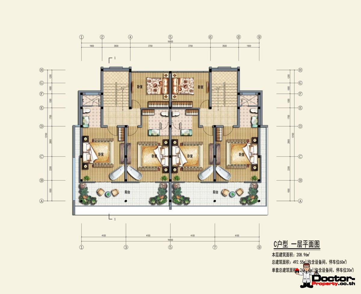 Type C1 - Sea View Villa - Chaweng Noi - Koh Samui - for sale