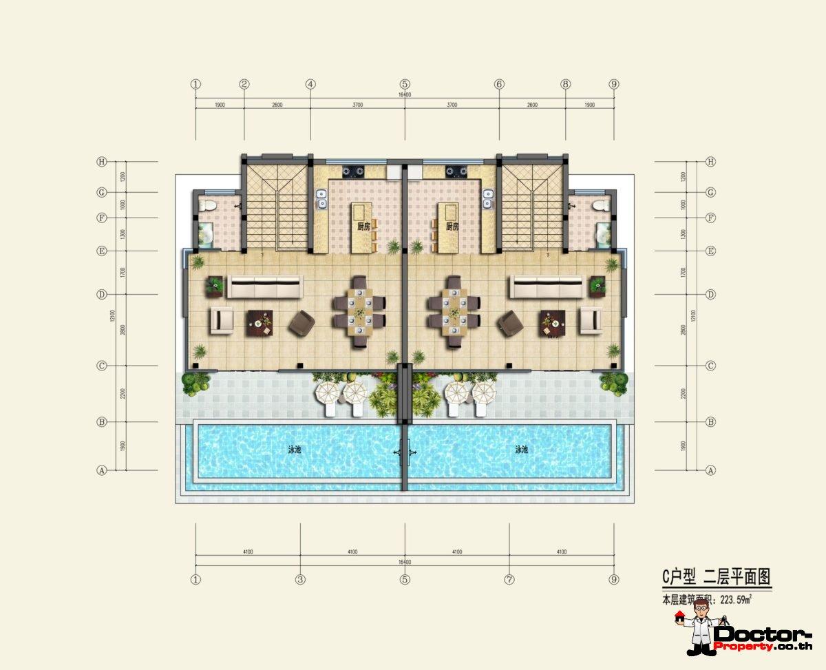 Type C2 - Sea View Villa - Chaweng Noi - Koh Samui - for sale