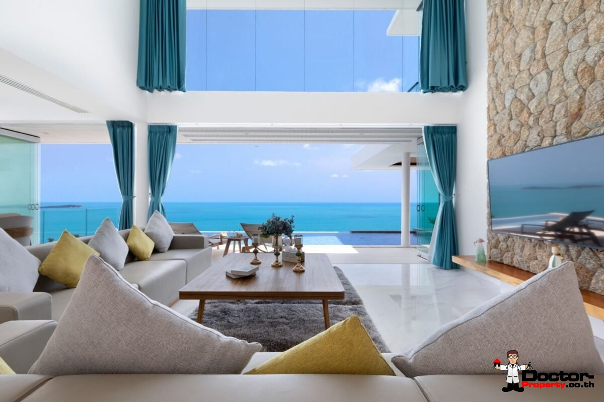 New 3.5 Bedroom Sea View Villa – Chaweng Noi – Koh Samui – For Sale