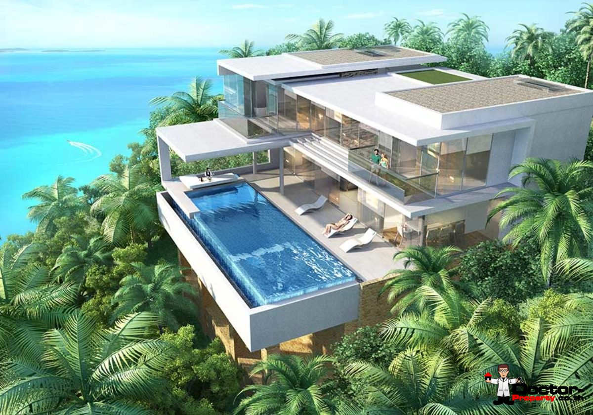 3.5 Bedroom Sea View Villa Type A - Chaweng Noi - Koh Samui