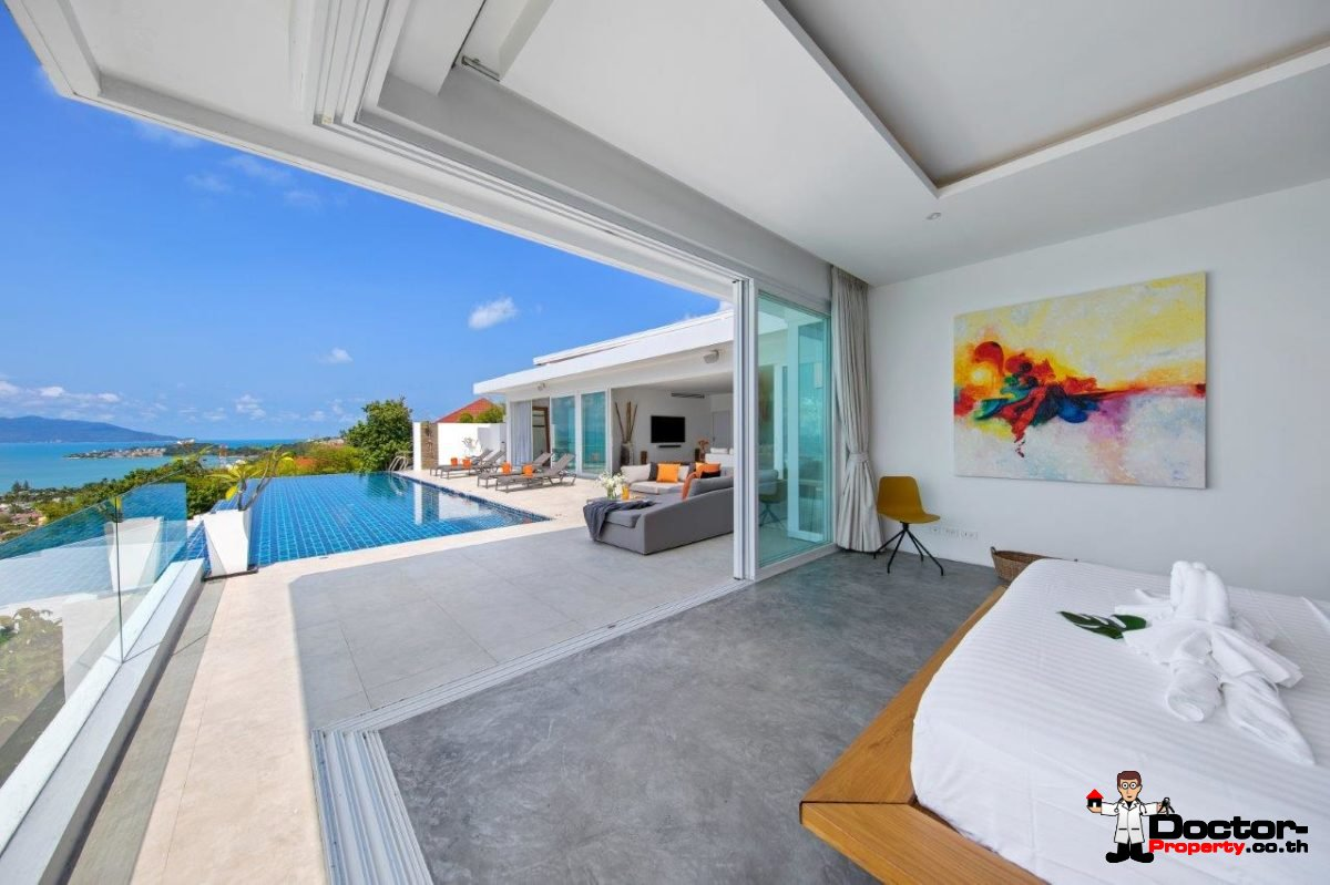 4 Bedroom Pool Villa with Sea View - Big Buddha, Koh Samui - For Sale