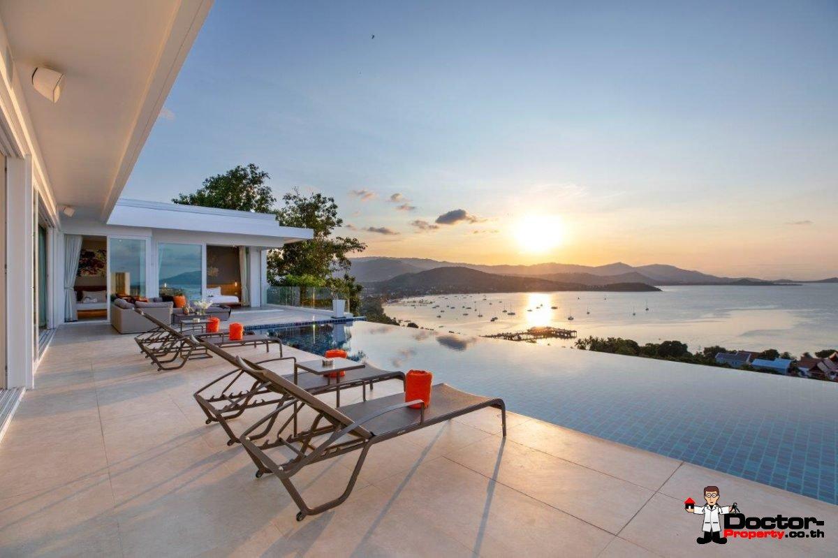 4 Bedroom Pool Villa with Sea View - Big Buddha, Koh Samui - For Sale