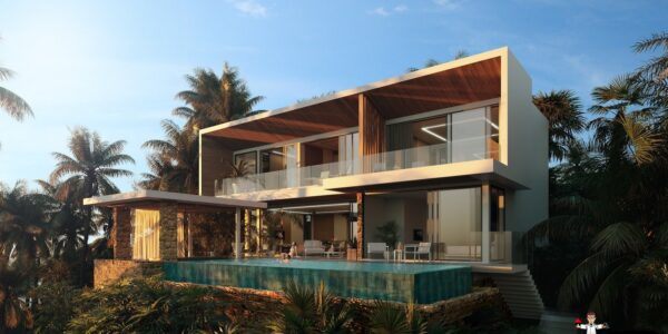New 4 Bedroom Sea View Villa - Chaweng Noi - Koh Samui - for sale