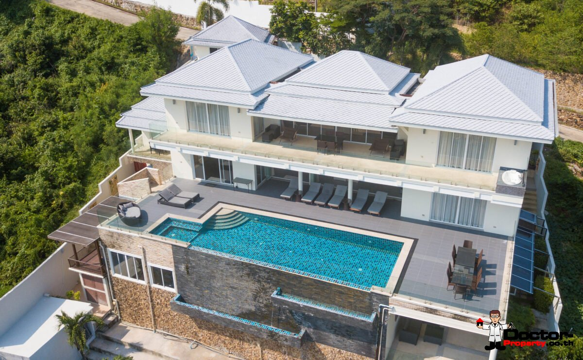 6 Bedroom luxury Villa with Sea View - Choeng Mon - Koh Samui - for sale