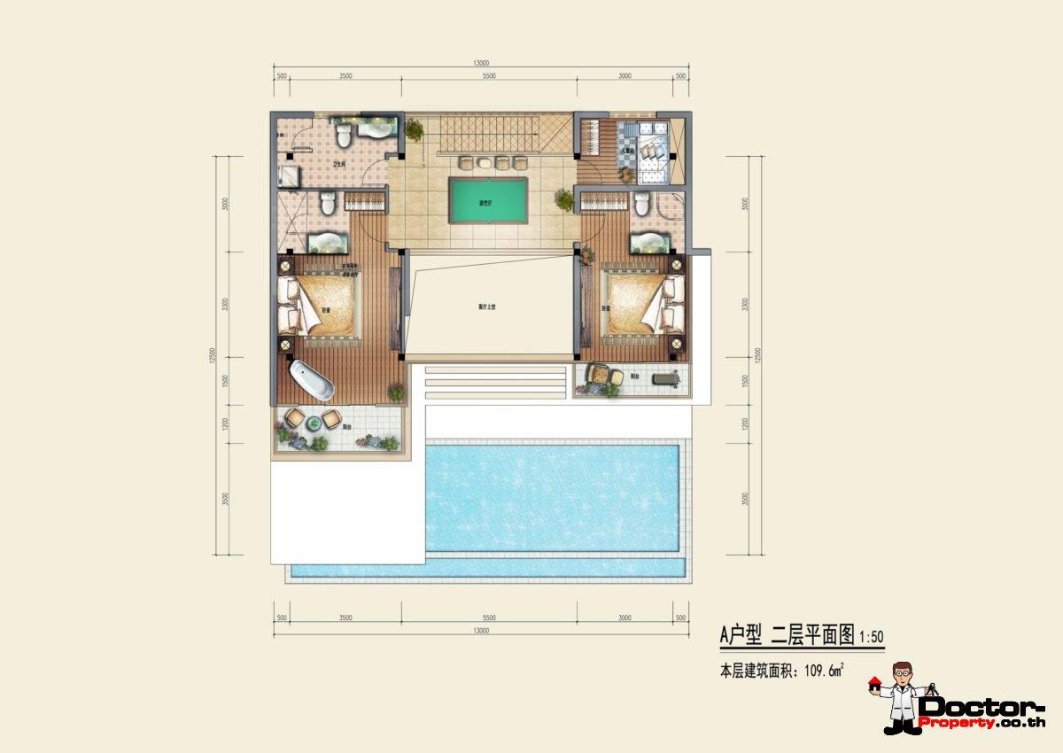Type A2 - Sea View Villa - Chaweng Noi - Koh Samui - for sale