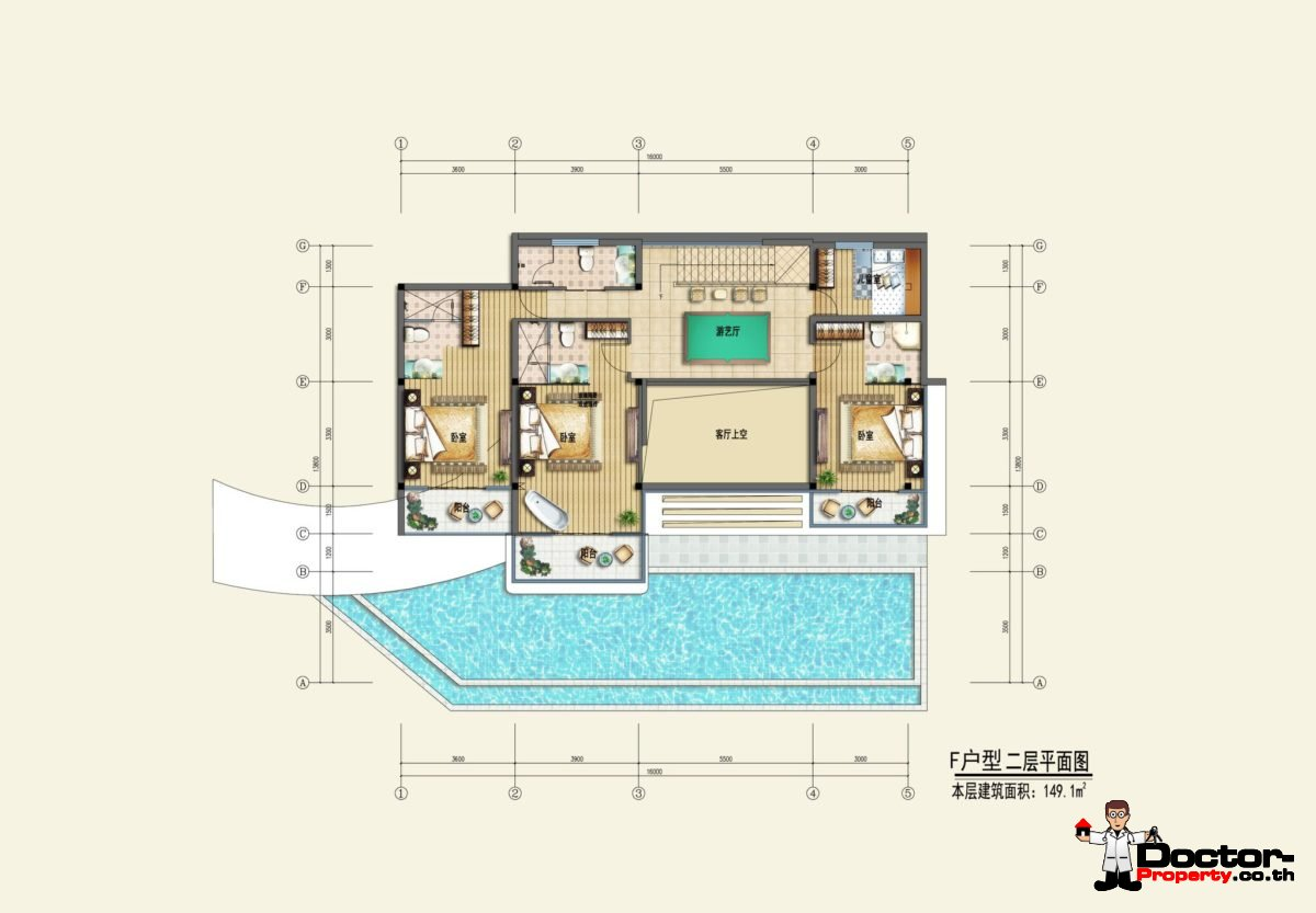 Type F2 - Sea View Villa - Chaweng Noi - Koh Samui - for sale