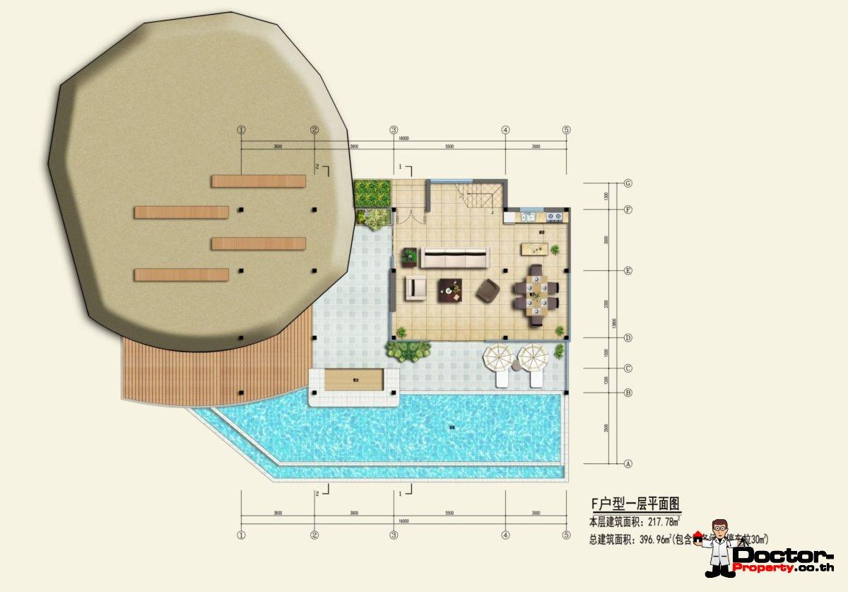 Type F1 - Sea View Villa - Chaweng Noi - Koh Samui - for sale