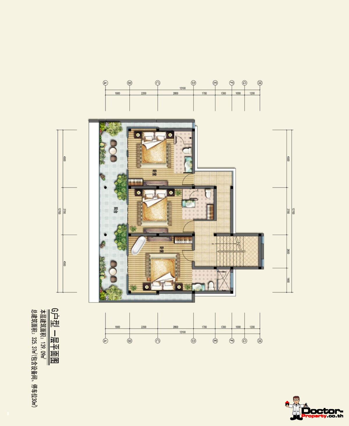 Type G1 - Sea View Villa - Chaweng Noi - Koh Samui - for sale