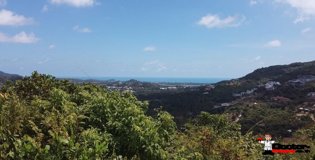 490m² or 735m² Hilltop Land with Sea View - Bophut, Koh Samui - For Sale