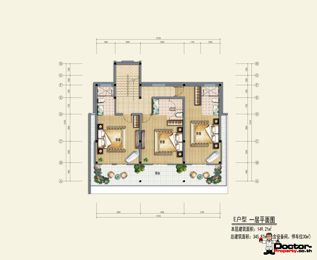 Type E1 - Sea View Villa - Chaweng Noi - Koh Samui - for sale