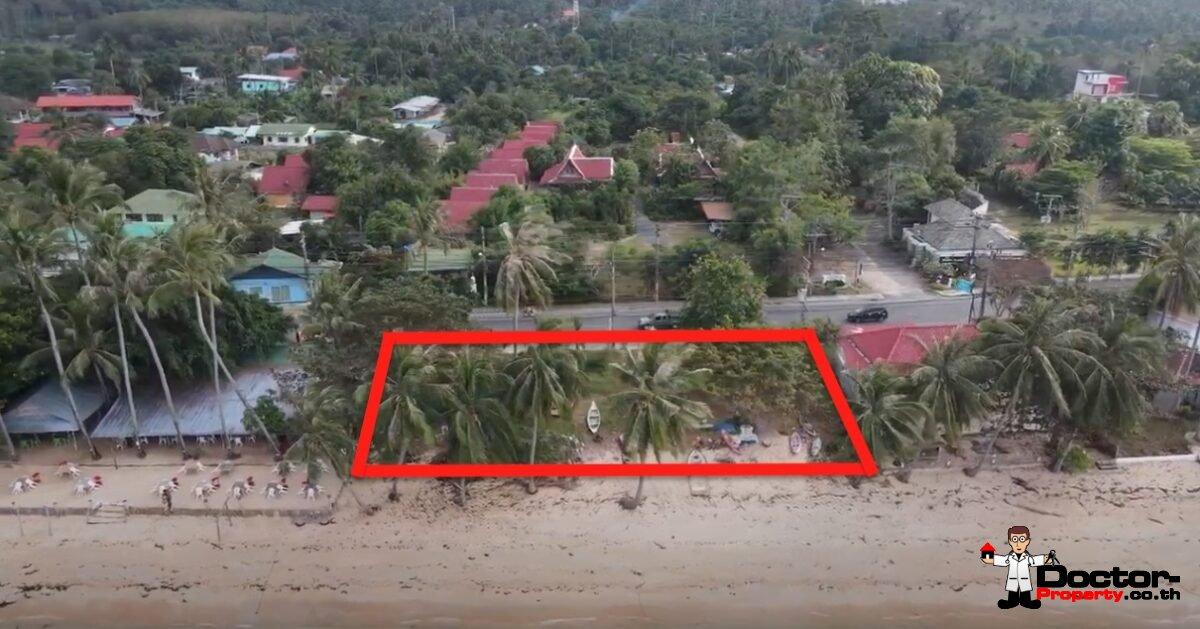 Perfect 1 Rai Beachfront Land - Bang Por - Koh Samui - for sale
